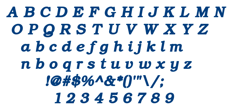 Bkmacb font