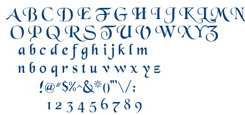 Blkchcry font
