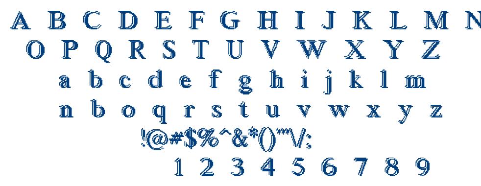 Blockste font