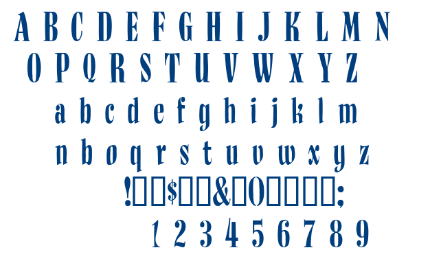 Budnm font