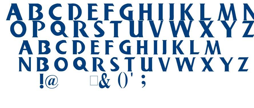 Buschgarden font
