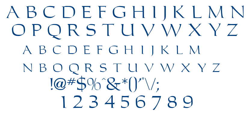 Carleton font