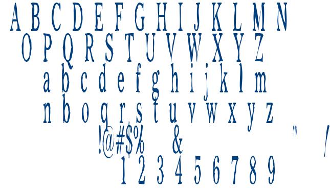 Chilm font