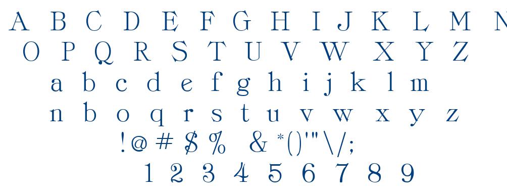 Classrom font