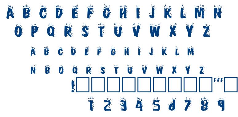 Cracklin font