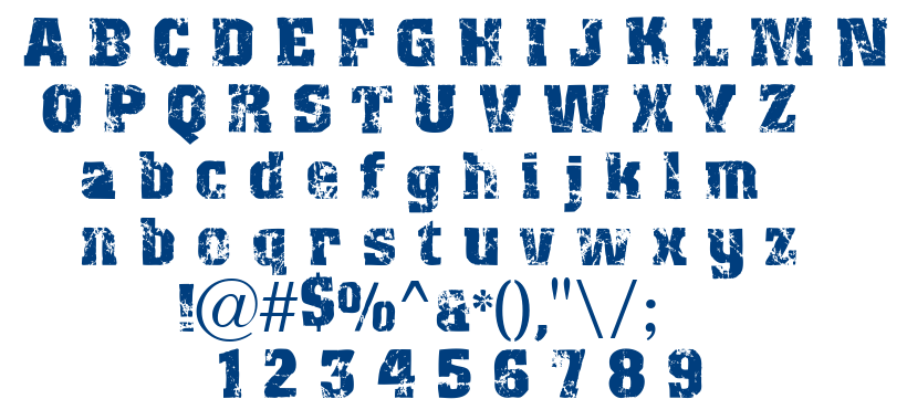 Distres2 font