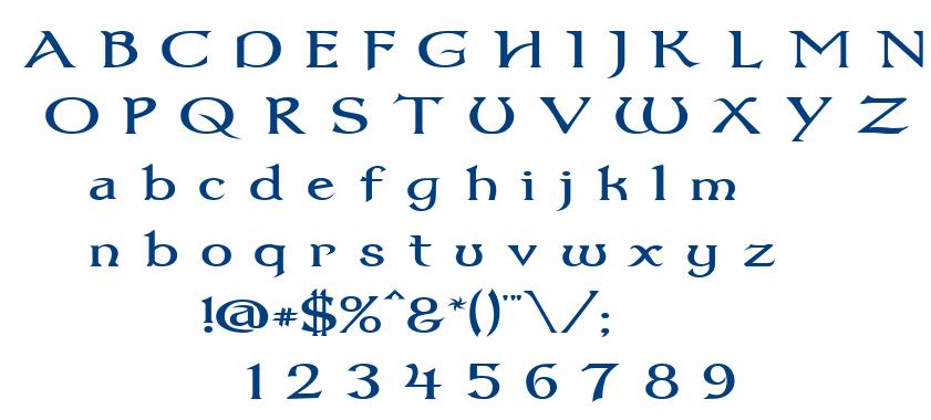 Dum1wide font