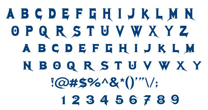 Megadeth font