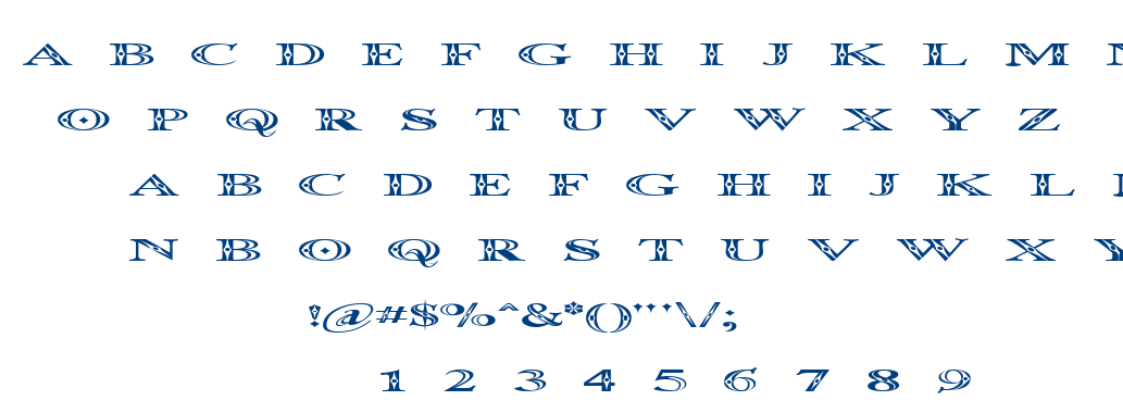 Occosprd font