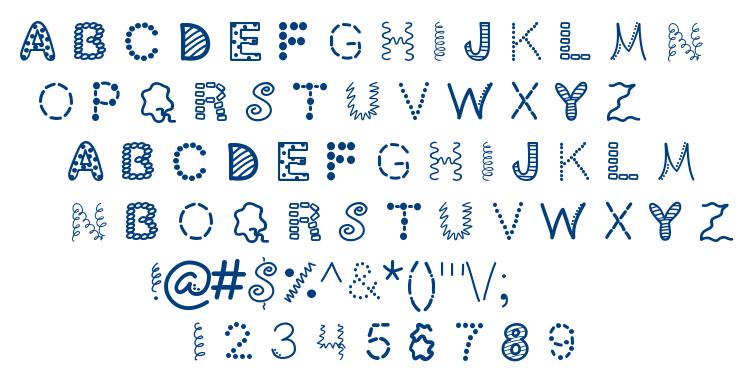 scrapoholic font