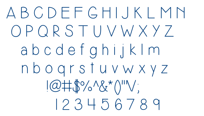 Simplicity2 font
