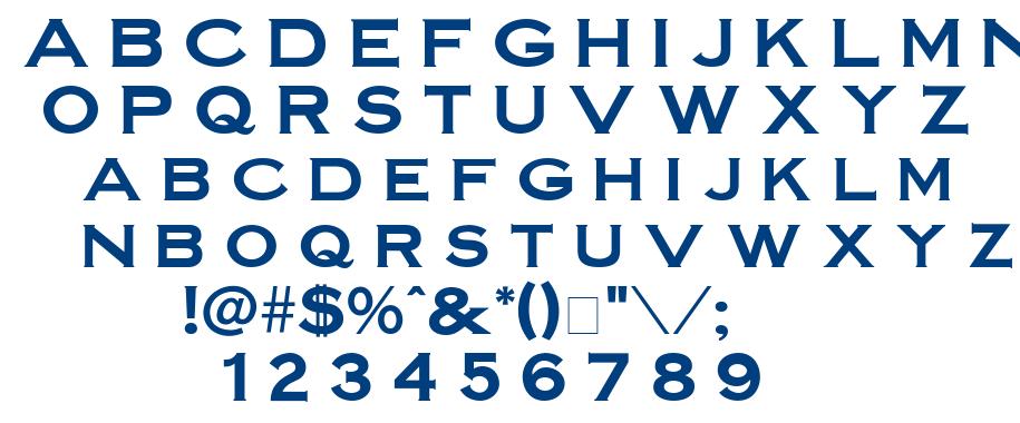 Steel45 font