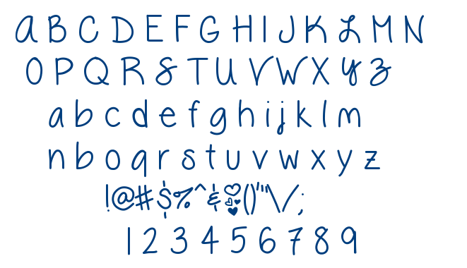 Vanessa Loves You font