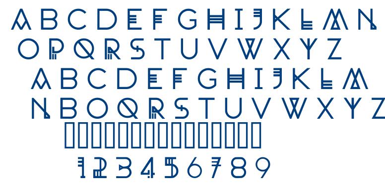 Landscape font