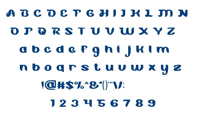 Blue Ocean font