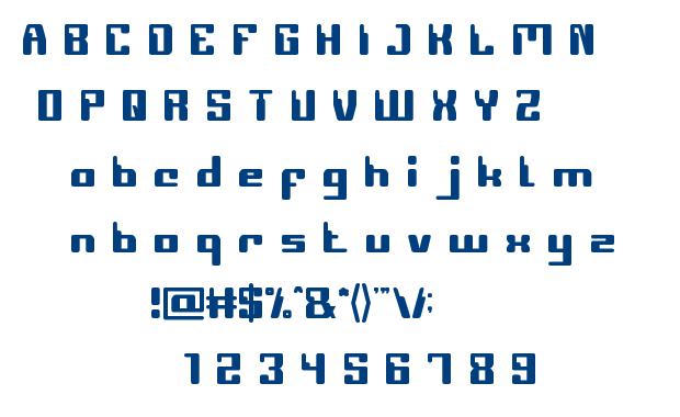 COMPUTER Robot font