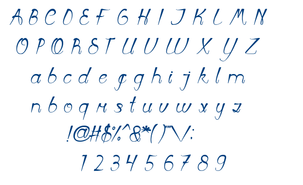 First Love font