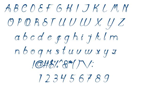 First Love font