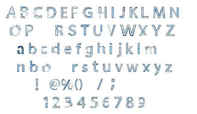 Moiety font
