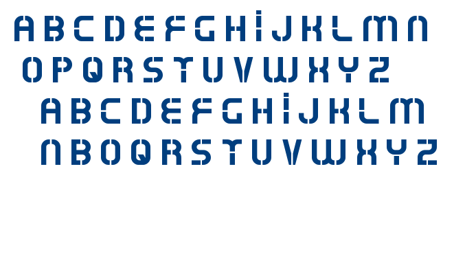 Oxin army font