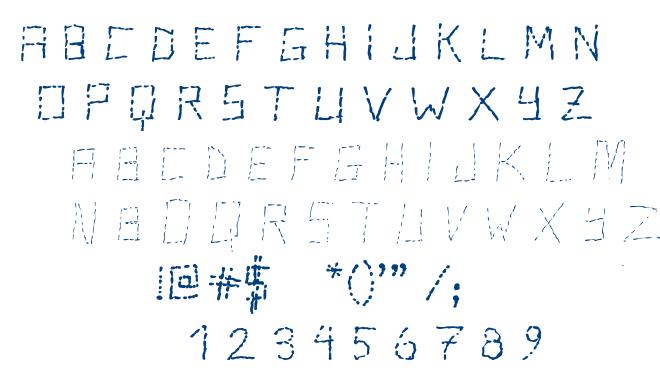 Stutter font