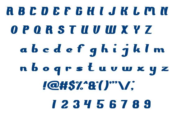 The PRESIDENT font