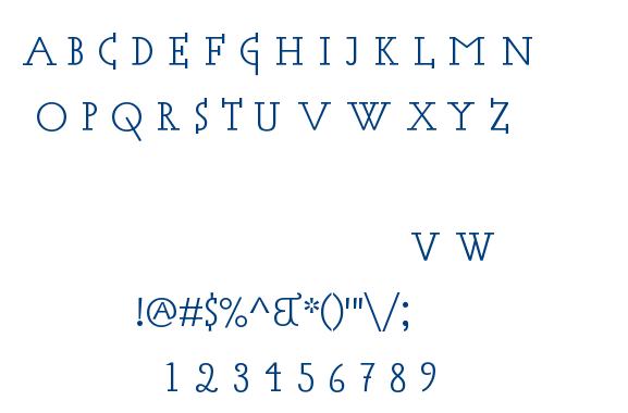 Acca font