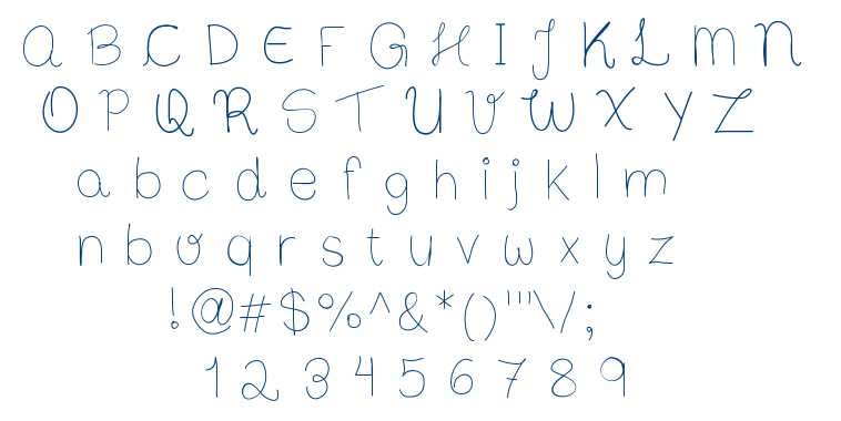 Bibs First Handwrite font