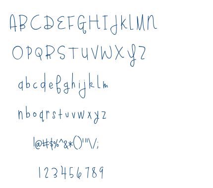 Blueberry Oatmeal font