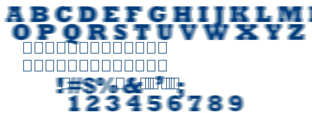 Extrablur font