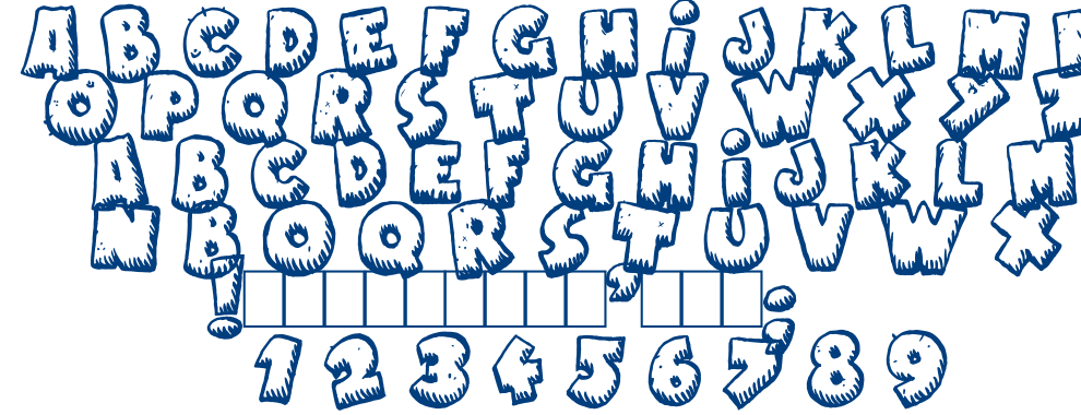 Naughty cartoons font