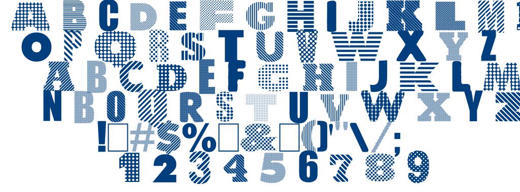 Roundabout font
