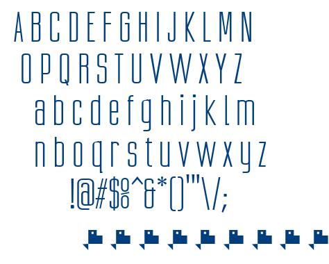 Ubicada font