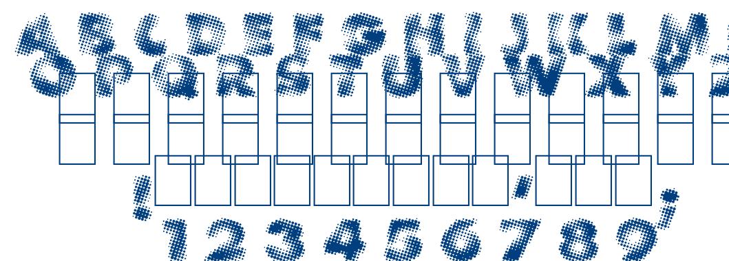 Vanished font