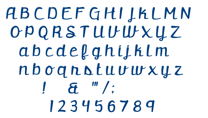 Retrofitted font