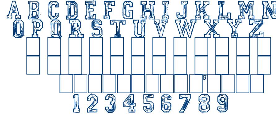 Mickeys school font
