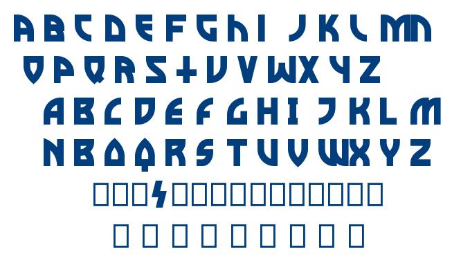 Metal curve font