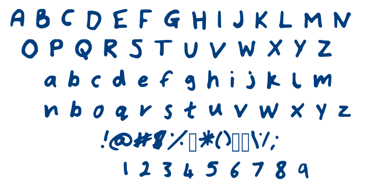 Bryonys Handwriting Bold font