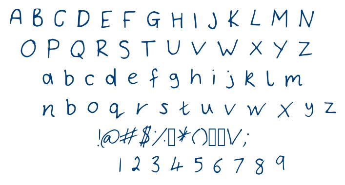 Bryonys Handwriting Thin font