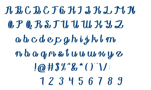 Rainboy in love font