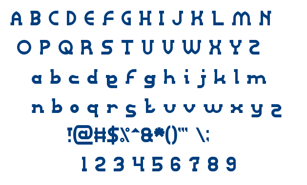 Right POWER font