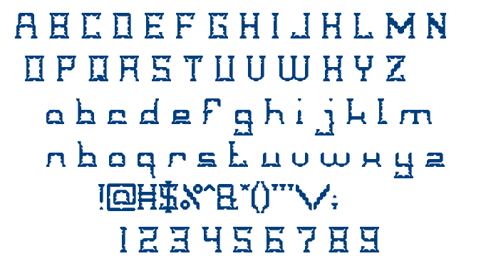 CRYSTAL Soldier font