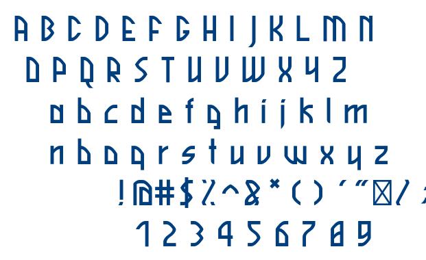 Skyline font