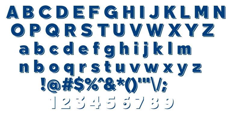 Tabarra Shadow font