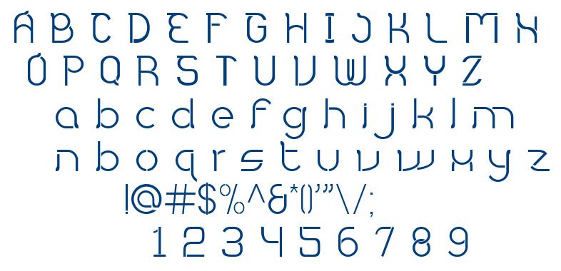 Hampura font
