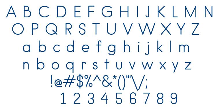 Hanken Light font