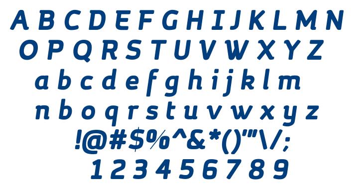 Margot Bold Italic font