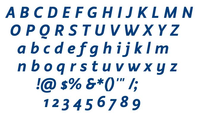 Smidswater Bold Italic font