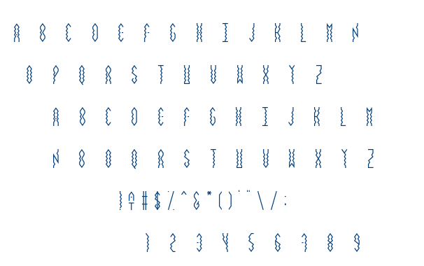 Vibrey_smallcaps on font