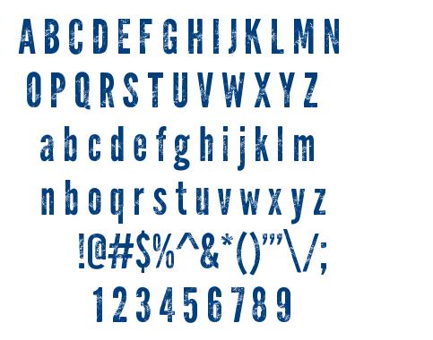 Warpaint font